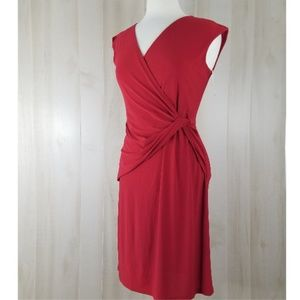 KBS Red Side Knot Form Fit Dress